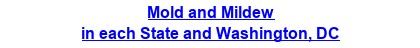 Mold & Mildew Prevention, Inspection & Removal in each State and Washington, DC